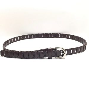 Accessories - Women's Brown Leather Skinny Belt Size Extra Large